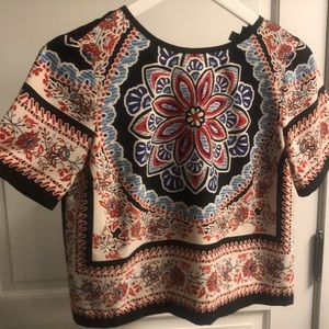 Topshop patterned top
